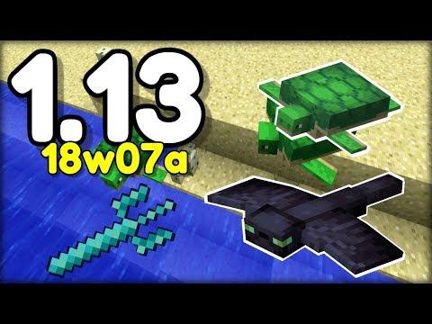 NOVĚ ŽELVY, TROJZUBEC, PHANTOMOVÉ  v Minecraftu 1.13 ! (18w07a)