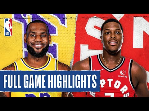 LAKERS at RAPTORS | FULL GAME HIGHLIGHTS | August 1, 2020