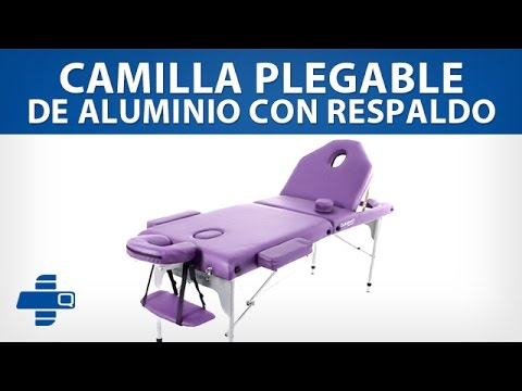 Camilla Plegable de Aluminio con Respaldo (579-A2L-AZ)