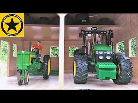 BRUDER JOHN DEERE 7930 meets ERTL John Deere 720 in BRUDER TRACTORS for CHILDREN