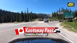 Driving across the Kootenay Pass from Creston to Castlegar – British Columbia 🇨🇦