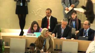 Anne Herzberg, at the UN Human Rights Council, on Arab Women's Rights