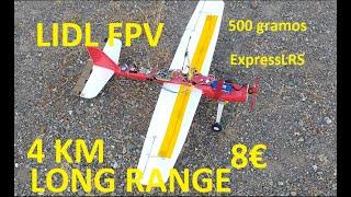 How to LIDL glider to FPV Long Range autonomous flight plane: motor, camera, VTX, flight controller