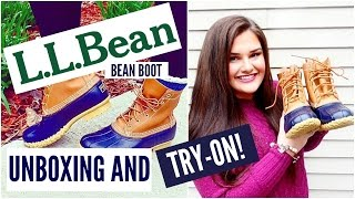 L.L. Bean, Bean Boot Unboxing/Try-on! | 2015