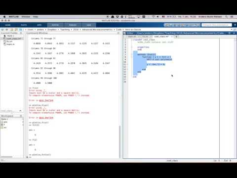Intro to Matlab functions and classes