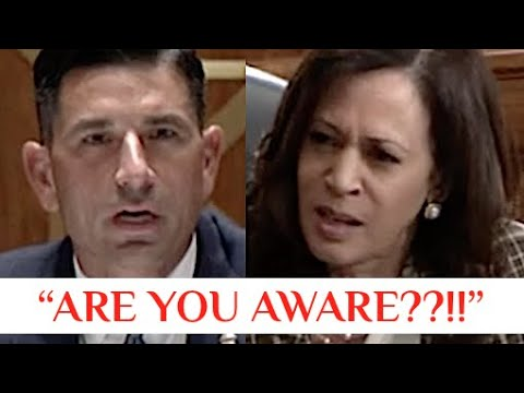 """ARE YOU AWARE??!!"" Kamala Harris CONFRONTS Trump Lackey Chad Wolf on Trump's Unconstitutional Acts"