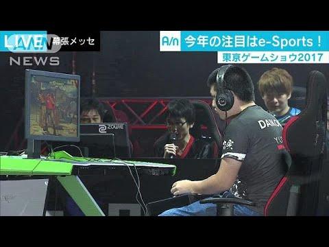東京ゲームショウ 人気の「e-Sports」に各社注力(17/09/22)