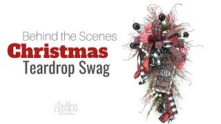 Deco Mesh Christmas Teardrop Swag Sneak Peek