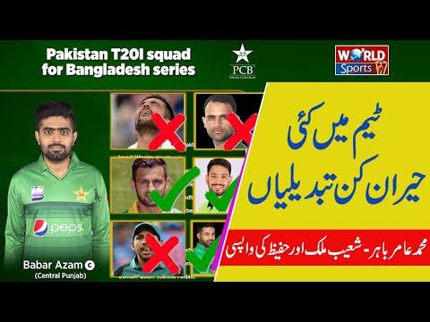Pakistan squad for Bangladesh 2020  announced | Pak vs Bangladesh series 2020