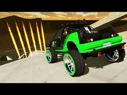 High Speed Crazy Jumps Crashes #43 BeamNG Drive