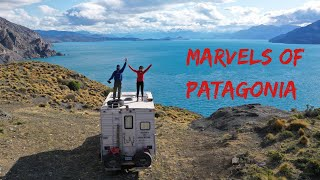 Marvels of the Chilean PATAGONIA / MARBLE CAVES and scenic road 265 with a 4x4 TRUCK CAMPER