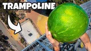 WATERMELON Vs. TRAMPOLINE from 45m!