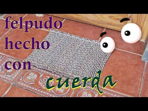 Cómo hacer una alfombra o felpudo con cuerda