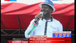 Raila Odinga leads NASA Co-principals in campaigns of Siaya County