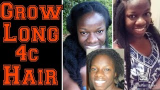 How To Grow 4C Natural Hair To WAIST Length/ 7 Detailed Tips To Grow Long Hair/8 Years Natural