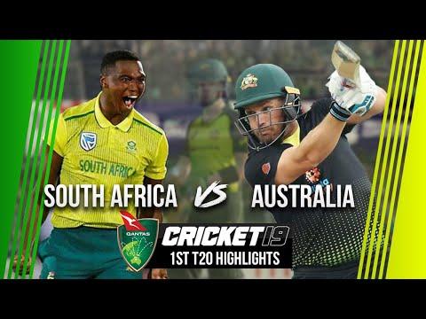 South Africa v Australia - 1st T20 Highlights - Cricket 19