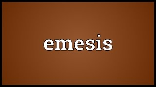 Emesis Meaning