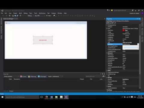 تعلم برمجة سي شارب الدرس 1 | كتابة اول تطبيق Windows Form in c# first app
