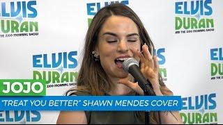 "JoJo - ""Treat You Better"" Shawn Mendes Acoustic Cover   Elvis Duran Live"