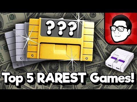 Top 5 RAREST SNES Games!   Nintendrew