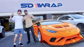 FINALLY WRAPPING ALL MY CARS! (NEW LAMBORGHINI REVEAL)