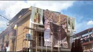 preview picture of video 'San Severo - Festa del Soccorso 2014. Fuoco in via Sicilia le vele.'