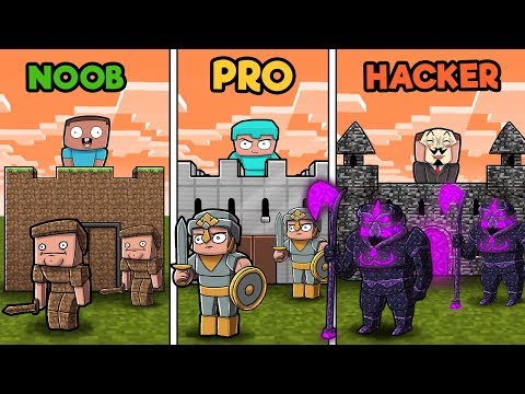 Noob Vs Zombie Roblox Minecraft Noob Vs Pro Vs Hacker Castle Wars In Minecraft Minecraftvideos Tv