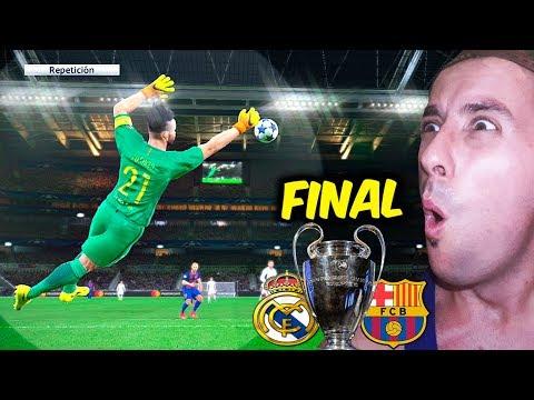 FINAL Champions League REAL MADRID VS FC BARCELONA LA FINAL DE MIS SUEÑOS!!!   PES 2017 BAL
