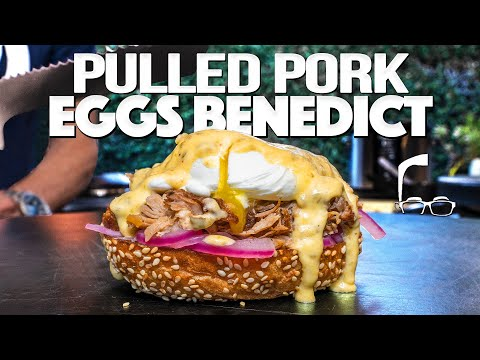 THE BEST EGGS BENEDICT (WITH PRESSURE COOKER PULLED PORK!) SAM THE COOKING GUY