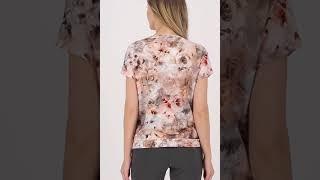 Vorschau: Leichtes Sweatshirt mit Kurzarm und Allover Print