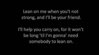 Lean on me (Karaoke)