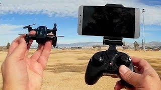 JX 1601HW Micro Folding FPV Camera Drone Flight Test Review
