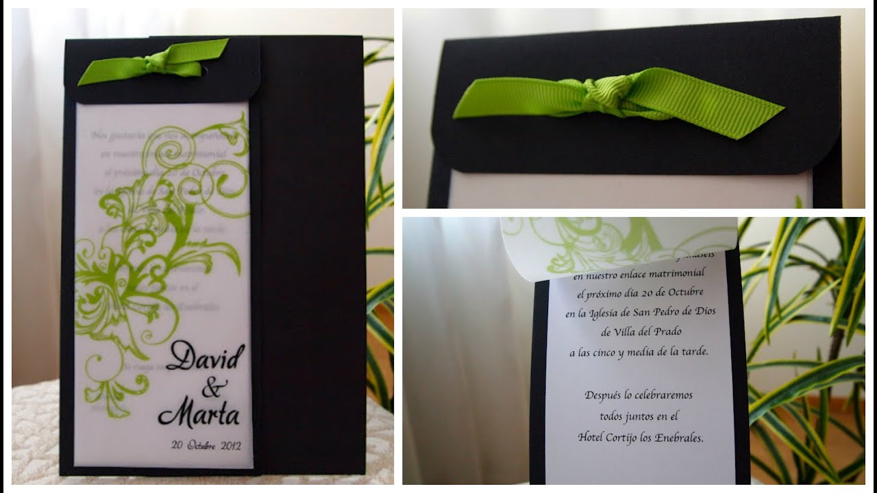 Wedding invitation #3 - Invitación de boda #3
