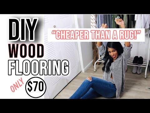 APARTMENT HACK: DIY WOOD FLOORS | MARBLE FLOORING METHOD