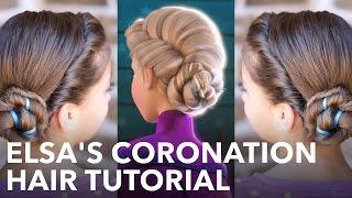Elsas Frozen Coronation Hairstyle Tutorial
