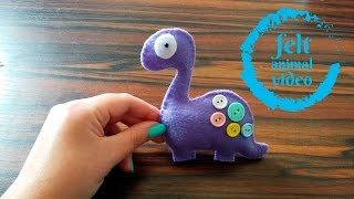 DIY - #1 Felt Animal - Dinosaur