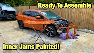 Rebuilding My Totaled Wrecked 2015 Si Childhood Dream Car From Salvage Auction Inner Jams Painted