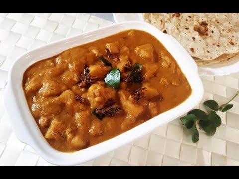 ചപ്പാത്തിക്കും പൂരിക്കും ഒരു കിടിലൻ മസാല കറി/Kadachakka Masala Curry/Breadfruit Masala curry