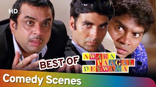 Best of Comedy Scenes of Movie Awara Paagal Deewana | Johny Lever | Akshay Kumar | Paresh Rawal