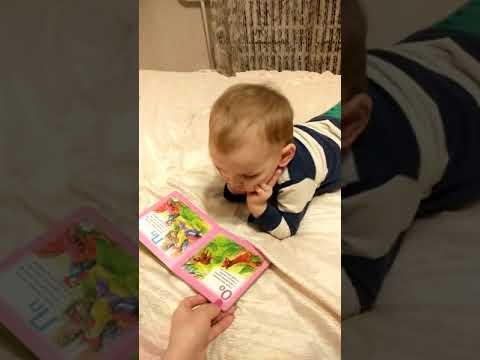 В 2 роки знає букви! Дитяче відео.