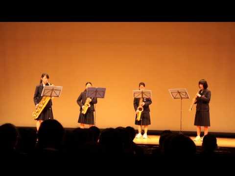 19.大蔵中学校   サックス4重奏