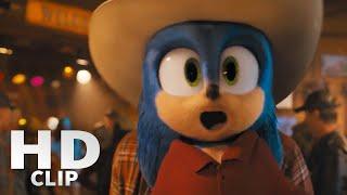 Sonic The Hedgehog Movie | Slow Motion Bar Fight Scene