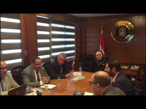 لقاء الوزيرة/نيفين جامع مع ممثلى شركة أمازون العالمية- عبر تقنية الفيديو كونفرانس