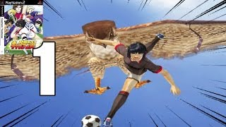 """Captain Tsubasa PS2 (キャプテン翼) """"Super Campeones Oliver y Benji"""" PS2 Gameplay story mode part 1"""