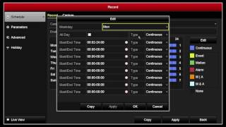 How to set scheduled recording on a Hikvision NVR, DVR or IP Camera