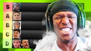 Youtube Boxing Tier List