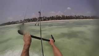 preview picture of video 'Kitesurf Kiwengwa Zanzibar'