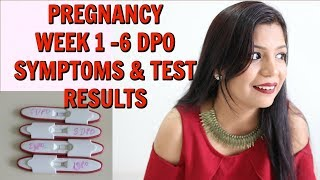 Pregnancy Two Weeks Wait SYMPTOMS 1 -6 DPO Leading To BFP Results | SuperPrincessjo