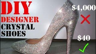DIY Designer Swarovski Crystal Shoes!!