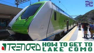 HOW TO GET FROM MILAN TO LAKE COMO / ITALIAN TRAIN TRIP REPORT